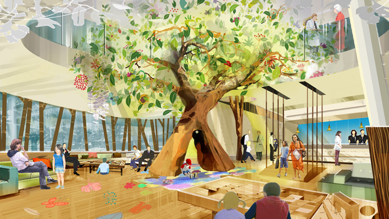 concept of healing hospital The concept is installed in a hospital ward at odense university hospital billions of danish kroner are invested in hospitals with a focus on healing environments.